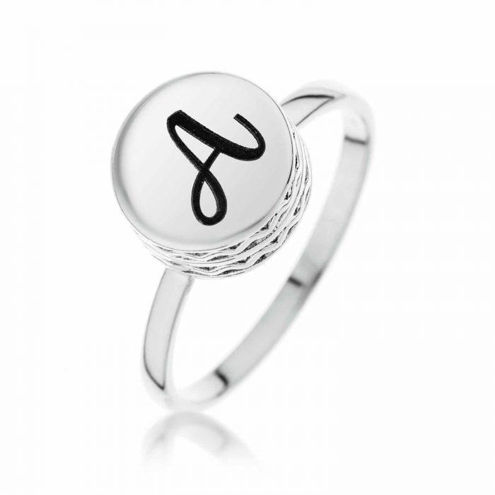 טבעת חותם קטנה מכסף 925