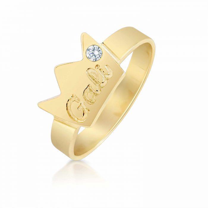 טבעת כתר זהב