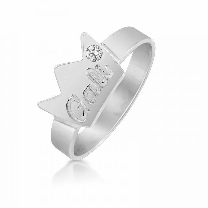 טבעת כתר מכסף 925