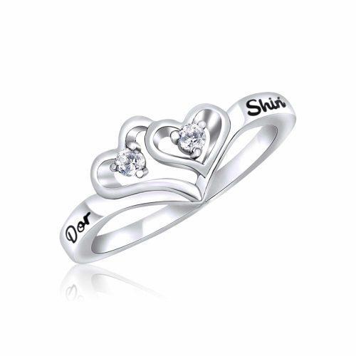 טבעת לב מכסף 925