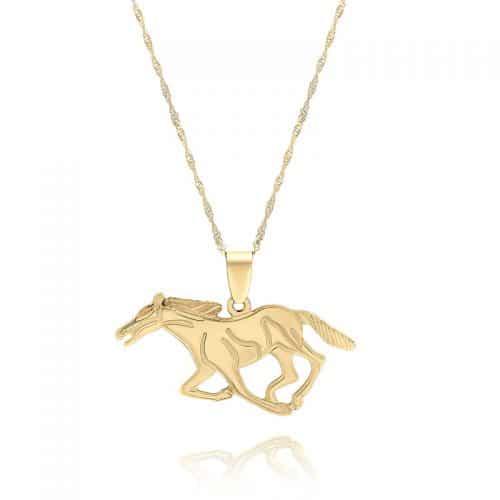 שרשרת סוס עם הקדשה מאחור