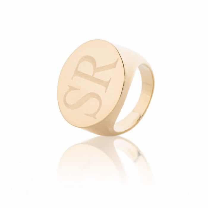 טבעת חותם בשילוב חריטה