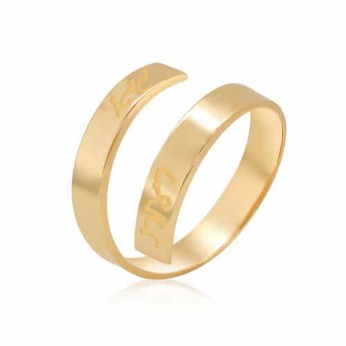טבעת מלופפת פתוחה עדינה
